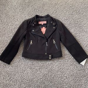 Girls Moto Jacket Size M 5/6 NWT